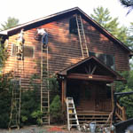 Exterior Staining Job in Blue Ridge Ga