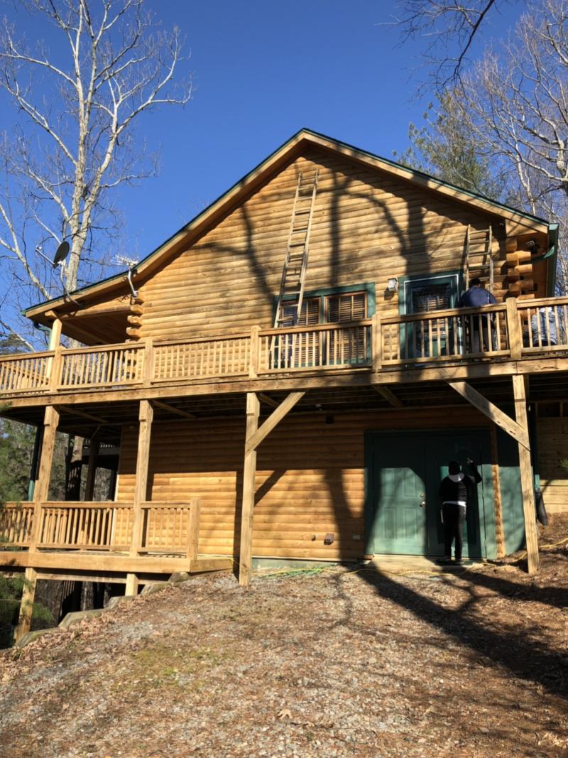 Exterior Cabin Restoration Job in Ellijay GA