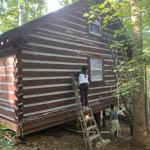 Exterior Staining Job in cherry log Ga
