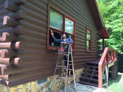 Amazing Exterior Painting In Ellijay Ga House Services. Log Cabin Exterior Painting